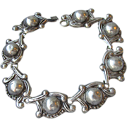 SALE Early Taxco Mexico Sterling Silver Vintage Bracelet