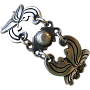 """REDUCED 1950's Vintage Taxco Mexico 980 Silver Heavy Link Unisex 7 3/4"""" Bracelet"""