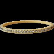 SALE DRASTIC REDUCTION 1920's Vintage Thin Celluloid Rhinestone Bangle Bracelet