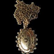 SALE Antique Victorian Locket Style Pendant Necklace