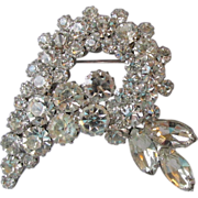 SALE DRASTIC REDUCTION Sparkling Vintage Rhinestone Modernist Bird Head Brooch