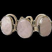 SALE Vintage HUGE & Chunky Engel Brothers Gold Filled Rose Quartz Bracelet