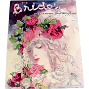 Vintage 1939 THE BRIDE'S MAGAZINE Spring Issue Bridal Dress Tiffany Ad