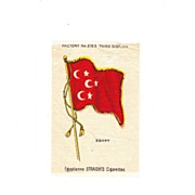 SALE 1882 Egypt  National Flag - Vintage Early 1900's Egyptienne Cigarette Silk - American ...