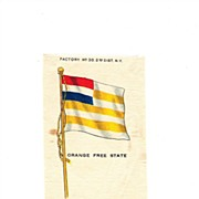 1854 -1902 Colonial South Africa - Orange Free State Flag - Vintage Early 1900's Egyptienne Ci