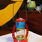 SOLD 1950's Toy Roy Rogers Cowboy Lantern - Ohio Art Company