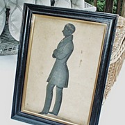 SALE Victorian English Gentleman  Hand-Painted Silhouette  -  Edward Lewin Griffith, 1815-1895