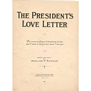 SALE President Calvin Coolidge 1924 Political Campaign Memorabilia - Vintage Campaign Song Pia