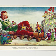 SALE 1939  Gulliver's Travels Cartoon Postcard - Paramount Feature Animated Movie - 1944  Worl