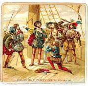 SALE PENDING Christopher Columbus Color Chromolithograph - Victorian Scrapbook Album Scrap