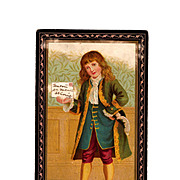 SALE 1890s Victorian Birthday Colonial Boy Greeting Card Album Scrap - Saint Louis, Missouri