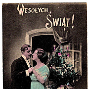 1916 Polish Language Christmas Vintage Postcard - Krakow, Poland Publisher-Jersey City, New ..