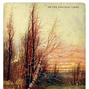 SALE c1900 Rancocas Creek, New Jersey Landscape Art Chromolithograph Vintage Postcard - Artist