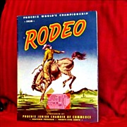 SALE PENDING 1950 World's Rodeo Championship Souvenir Program and Ticket Stub – Phoenix, Ari
