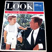 SALE 1963 John F. Kennedy Pre-Assassination LOOK Magazine Issue:  John F. Kennedy, Jr.  Little