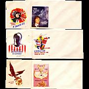 SALE 1942 World War II-2-Two U.S. American Patriotic Postal Covers – Six US War-Time Vintage