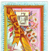 SALE c1890 New Home Sewing Machine Company Victorian Advertising Trade Card – J. Ottmann Lit