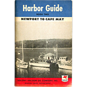 1946 MOBILgas Marine Products Advertising – Atlantic Coast Harbor Guide - Newport RI-New Yor
