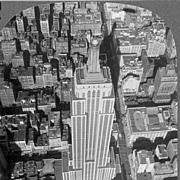1930s Empire State Building New York City Real Photo Stereo View – Manhattan Art Deco Landma