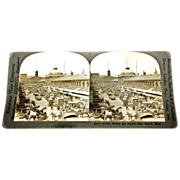 SALE c1910 Boston Stereo View – Quincy Market & Historic Faneuil Hall  -  Keystone Real Phot