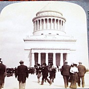 1899 New York City Riverside Park Vintage Real Photo Stereo View  - Ulysses S. Grant Tomb ...