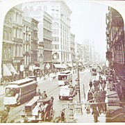 SALE 1894 New York City Manhattan SoHo Section Real Photo Stereo View - Lower Broadway and ...