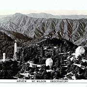 SALE 1930s Los Angeles California Mount Wilson RPPC Real Photo Postcard - Mount Wilson Observa