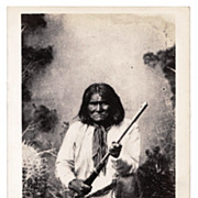 SALE Geronimo Chiricahua Apache Indian Native American Tribe Chief Real Photo Postcard - c1937