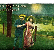 SOLD 1916 Romantic Courting Couple's Moonlight Walk Vintage Postcard - Samson Brothers, Publis