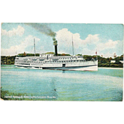 "c1908 Kennebec River MAINE New England Yankee Coastal Steamship ""SS Ransom B. Fuller"""