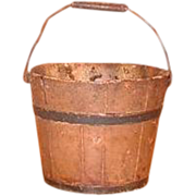 Shaker Society Mount Lebanon Village Community Antique Children's Berry Bucket - Wooden Pail w