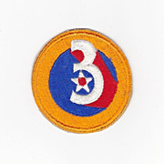 World War Two-II-2 Army Air Force Uniform Shoulder Sleeve Patch Insignia - 3rd Air Force - Gua