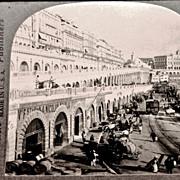 SALE c1920 Algiers Algeria Kasbah Harbor Wall Stereo-view – Keystone Glossy Finish Real Phot