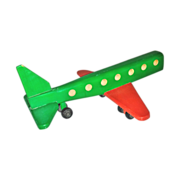 SALE Wooden Jet-Liner Airplane Hand-Crafted Toy - Large Hand-Crafted Late 20th Century Vintage