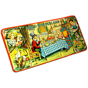 Alice in Wonderland 1950s Vintage Page London Paint Box - Mad Hatter's Tea Party Tin Lithogr