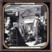 "c1900 English Magic Lantern Slide - Robert Burns Poem ""The Cotter's Saturday Night"""