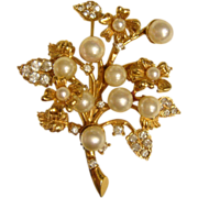 "Vintage 1950s Hattie Carnegie ""Dancing Jewels"" Trembler Brooch"