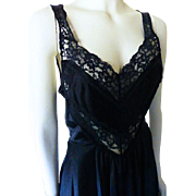 Vintage Undercover Wear Black Nightgown Large Size
