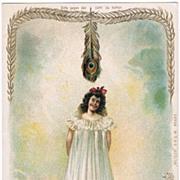 Hold to Light Postcard Lady Snake Lily