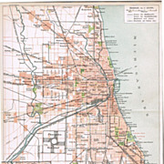 Old Chicago Map from 1900