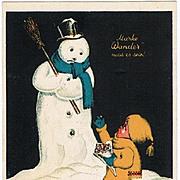 Advertising Design as Xmas Postcard