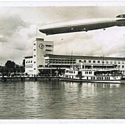 Zeppelin Airship over Station in Friedrichshafen