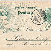 New Century First Day Cancellation on Postal Card 1900