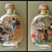 Inside Painted Snuff Bottle with Birds