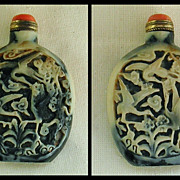 Chinese Oxhorn Snuff Bottle