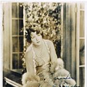 SOLD Rare Norma Talmadge Autograph on Photo. CoA 6 x 8