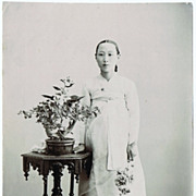 SOLD Korean Lady. Old Photograph