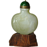 Nephrite Jade Snuff Bottle , hand carved