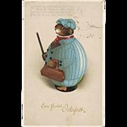 Funny old Easter Postcard 1922