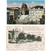 Two old Postcards from Krakow in Poland 1901-09